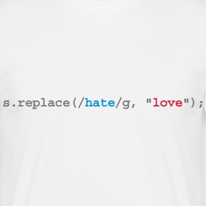 replace hate with love Tee shirts - T-shirt Homme