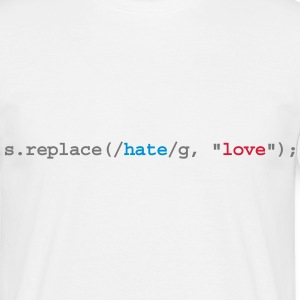 replace hate with love T-shirts - T-shirt herr