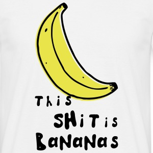 this shit is bananas banana monkey humor quotes Camisetas - Camiseta hombre