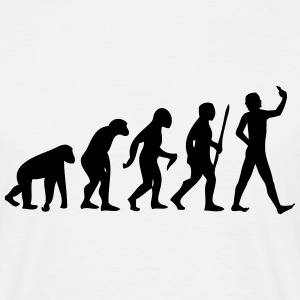 Evolution #Selfie T-Shirts - Men's T-Shirt