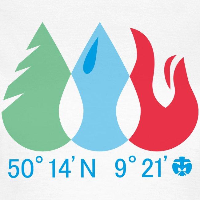 Mädels T-Shirt Wald/Wasser/Feuer