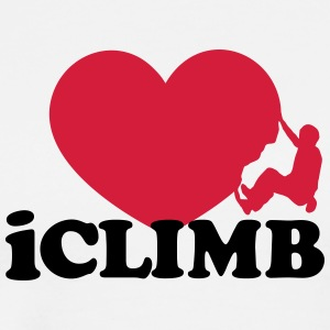 Climbing, iclimb,I Love Heart, Sports, Rock, Climb - Men's Premium T-Shirt