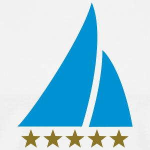 Sailing Five Star, Sailor, Boat, Surfing, Sea, T-shirts - Mannen Premium T-shirt