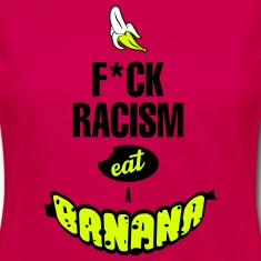 FUCK RACISM EAT A BANANA Long Sleeve Shirts
