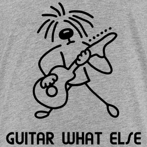Dog - Guitar what else Shirts - Teenage Premium T-Shirt