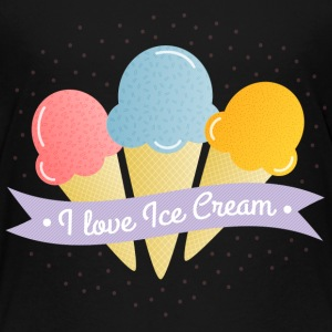 love ice cream elske is T-shirts - Børne premium T-shirt