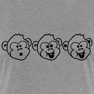 Talk about watching monkeys hearing 3 ways T-Shirts - Women's Premium T-Shirt