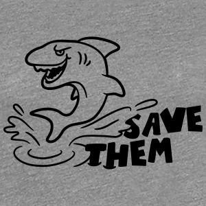Save Them Sharks Hai Logo T-Shirts - Frauen Premium T-Shirt