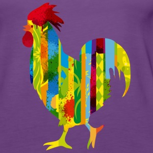 A colorful rooster Tops - Women's Premium Tank Top