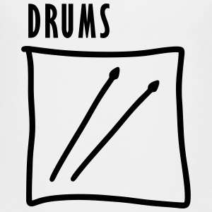 Drums - Drumsticks Shirts - Teenage Premium T-Shirt