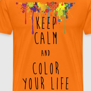 KEEP CALM color your life - Männer Premium T-Shirt