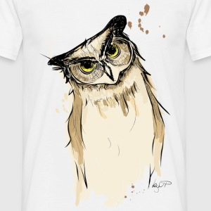 EULE / OWL / PRINT / TIER / ANIMAL - Männer T-Shirt