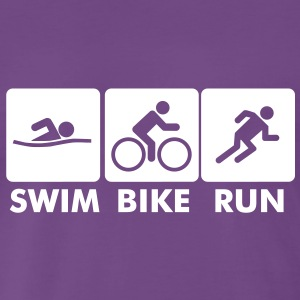 swim bike run - Men's Premium T-Shirt