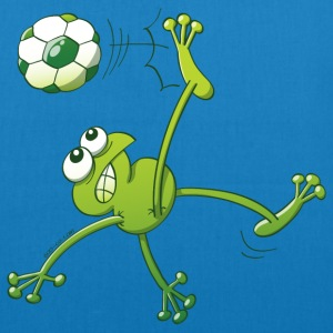 Frog Executing a Bycicle Kick with a Foot Ball Bags & Backpacks - EarthPositive Tote Bag