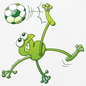 Frog Executing a Bycicle Kick with a Foot Ball Long Sleeve Shirts - Kids' Premium Longsleeve Shirt