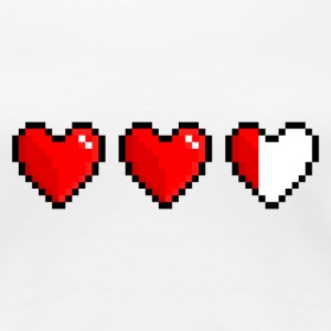 Pixel heart, low health - Premium-T-shirt dam