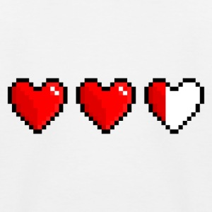 Pixel heart, low health - Baseboll-T-shirt barn