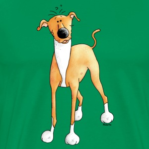 Funny Greyhound - Dog - Dogs T-Shirts - Men's Premium T-Shirt