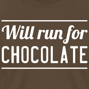 Will Run For Chocolate T-Shirts - Men's Premium T-Shirt