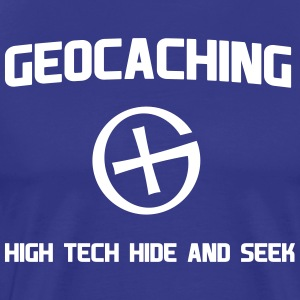 Geocaching High Tech Hide and Seek T-Shirts - Men's Premium T-Shirt