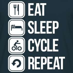 eat sleep cycle repeat T-shirts - Mannen T-shirt