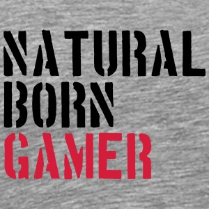 Natural Born Gamer Nerd T-shirts - Mannen Premium T-shirt
