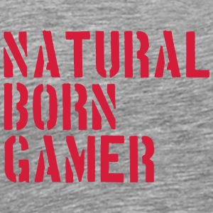 Natural Born Gamer Nerd T-Shirts - Men's Premium T-Shirt