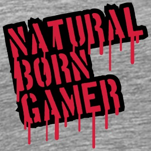 Natural Born Gamer Graffiti T-shirts - Mannen Premium T-shirt