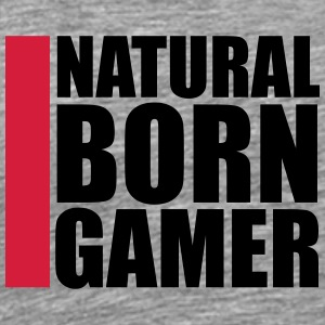 Natural Born Gamer ontwerp T-shirts - Mannen Premium T-shirt