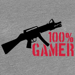 100% shooter gun killer eSport T-Shirts - Women's Premium T-Shirt