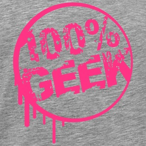 100% Nerd Geek Girl Graffiti T-Shirts - Men's Premium T-Shirt