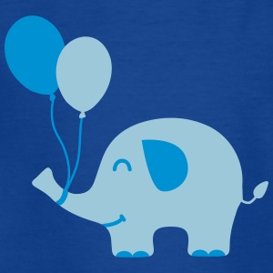 Sweet Funny Baby Elephant with Balloons Shirts - Teenage T-shirt