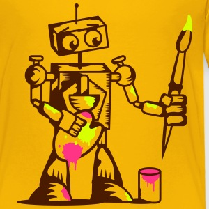 A robot with a paintbrush Shirts - Kids' Premium T-Shirt