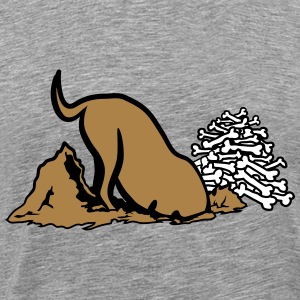 digging dog bone T-Shirts - Men's Premium T-Shirt