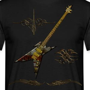 Dark Angel Guitar Tribal - T-shirt Homme