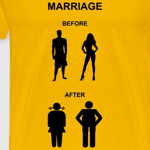 Marriage before / after T-Shirts - Premium T-skjorte for menn
