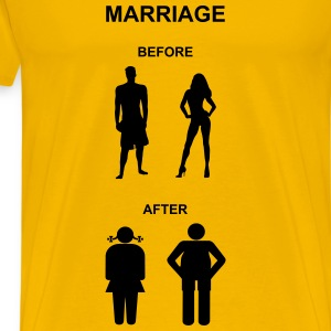 Marriage before / after T-Shirts - Men's Premium T-Shirt