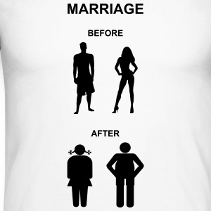 Marriage before / after Langarmshirts - Men's Long Sleeve Baseball T-Shirt