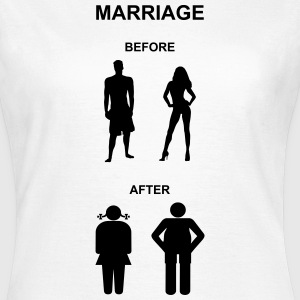 Marriage before / after T-Shirts - Frauen T-Shirt