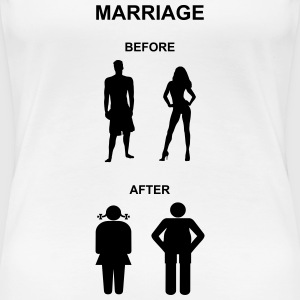 Marriage before / after T-Shirts - Vrouwen Premium T-shirt