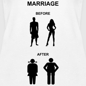 Marriage before / after Tops - Dame Premium tanktop