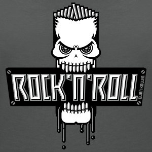 Rock 'n' Roll Skull T-Shirts - Women's V-Neck T-Shirt