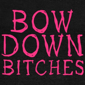 bow down bitches Hoodies & Sweatshirts - Women's Boat Neck Long Sleeve Top