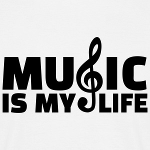 Music is my life T-Shirts - Männer T-Shirt