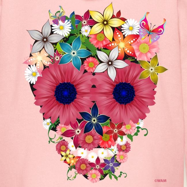 Flower Skull Kids' Zip Hoodie