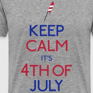 keep calm 4th of july holde roen 4 juli T-shirts - Herre premium T-shirt