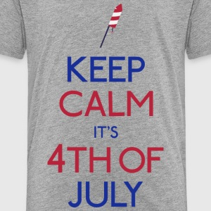 Keep Calm 4th of july T-Shirts - Kinder Premium T-Shirt