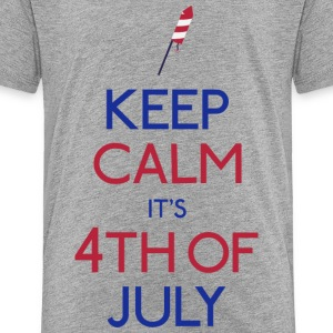 keep calm 4th of july holde ro 4 juli Skjorter - Premium T-skjorte for barn