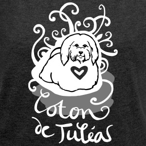 ornamental Coton de Tuléar T-Shirts - Women's T-shirt with rolled up sleeves