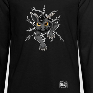 Huch?!- Drachi Dragon stuck grau/grey TeenagerPu - Teenager Premium Langarmshirt
